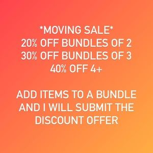 MOVING SALE UP TO 40% OFF
